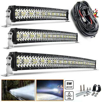 32 42 52inch Quad row Curved LED Light Bar Combo 12V 24V Off-Road Led Bar