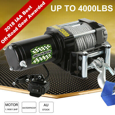 AU 4000lb 12V ELECTRIC WINCH WITH WIRED REMOTE TRAILER 4x4 TRUCK BOAT ATV SUV SY