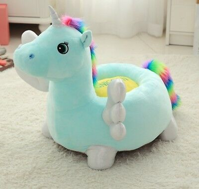 Children Unicorn seat sofa chair infant nursery soft play toy bean bag baby
