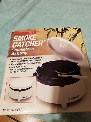 SMOKE CATCHER~SMOKELESS ASHTRAY - Brand NEW - Charcoal Filters Installed~VINTAGE