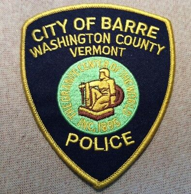 VT City of Barre Vermont Police Patch