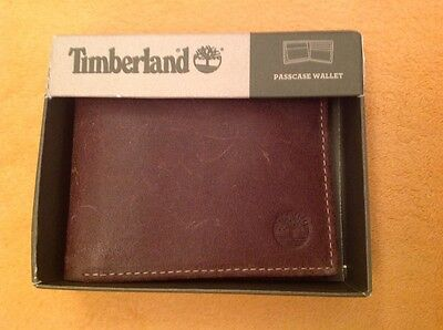 2306d3e592aac PORTAFOGLIO UOMO IN PELLE TIMBERLAND passcase wallet MARRONE MADE IN ITALY  NUOVO