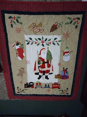 Christmas  Wow A  Christmas  Quilt From Berry 1M.49 X 1M.23   Brand New