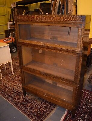 Mission Oak Globe Wernicke 3 Section Barrister Lawyer's Bookcase Arts & Crafts