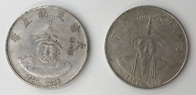 2 x Qing Dynasty Empire Coins. Years - 1627 - 1643 & 1662 - 1722.  (2315)