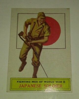 1965 Topps BATTLE CARDS Trading Card #58 Japanese Soldier 5.5