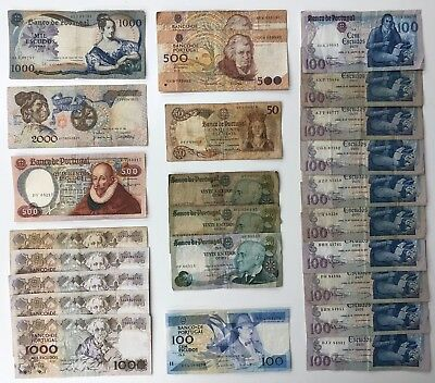 25 x Mixed Banknote Collection - PORTUGAL. (2318)