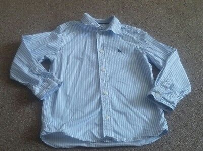Boys 5-6 years H&M Blue White Striped Long Sleeve Shirt