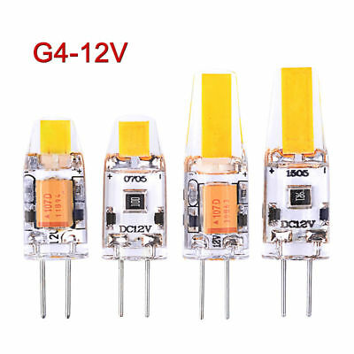 1x/10x G4 LED AC/DC 12V COB Light 3W 6W Sostituire la luce alogena in cristallo