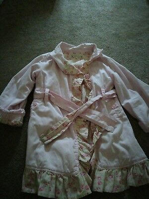 Molly n Jack Girls pink light weight dress coat 4-5 years