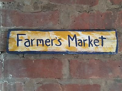 Farmers Market Recycled Wood Sign Rustic Hand Painted  Custom on request