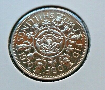 1970 Proof 2 Shillings Florin 2/- coin Never circulated, untouched. Last Minted