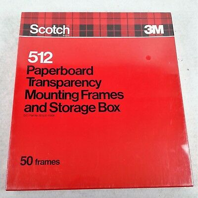 Scotch 3M Paperboard Transparency Mounting Frames 50 pcs SEALED 512 USA Overhead