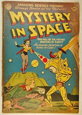 Mystery in Space #8 (Jun-Jul 1952, DC) Are Women the Future Masters of Earth?