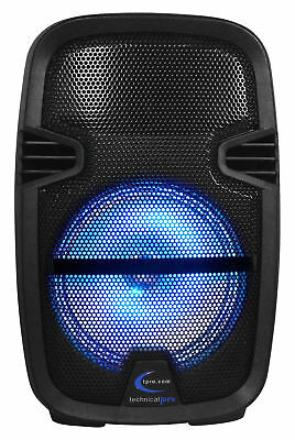 Technical Pro PB850FM 1000w Rechargeable Bluetooth LED DJ PA Speaker w/ FM/USB