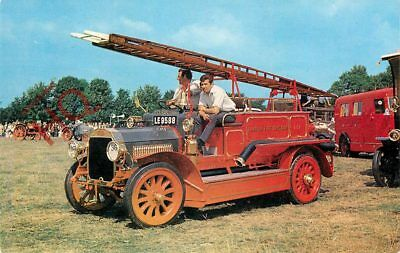 Picture Postcard-:1911 DENNIS FIRE ENGINE [SALMON]