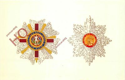 Postcard:;ORDER OF ST. MICHAEL & GEORGE/BRITISH EMPIRE [QUEEN AND PEOPLE]