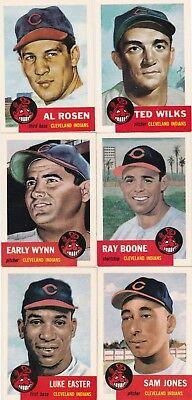1953 Topps 1991 Archives Cleveland Indians (lot of 6) ALL DIFFERENT New Cond