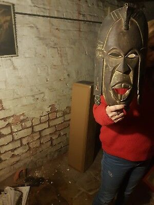 Vintage African Hand Carved Wall Hanging Mask (A1)