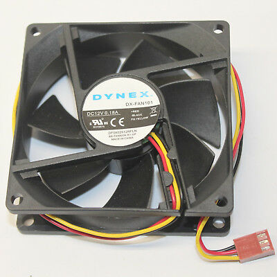 Dynex DX-FAN101 CPU Cooling Fan 80 mm for Computer Case 12 Volts 0.18 Amps