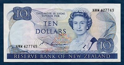 New Zealand Banknote 10 Dollar 1985  VF+