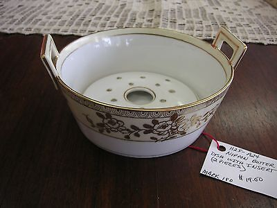 VINTAGE NIPPON PORCELAIN - 2 Piece Butter dish with Insert