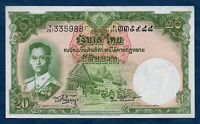 Thailand Banknote 9th Series(Type 5) 20 Baht 1957  VF+