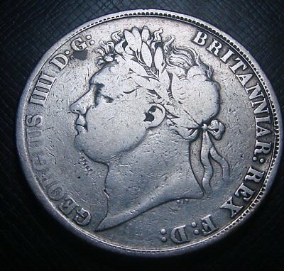 x1002 - 1821 British Silver Crown (Has been rubbed)