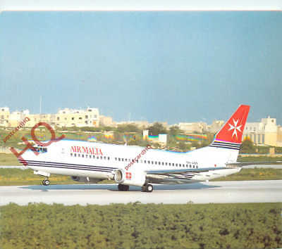 Picture Postcard~ AIR MALTA BOEING 737 9H-ABR, A320 MENTIONED ON REVERSE