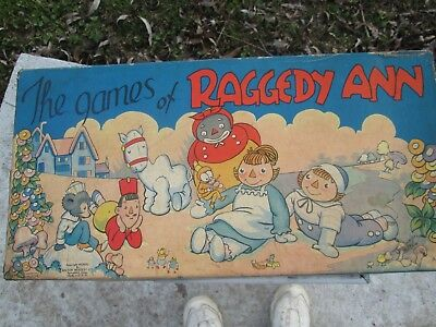 RARE!!! The Games of Raggedy Ann Vintage board game