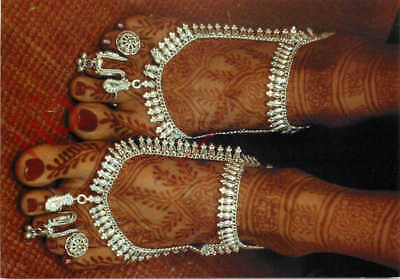 Picture Postcard: Henna-Painted Feet Of Indian Bride [Art Unlimited]