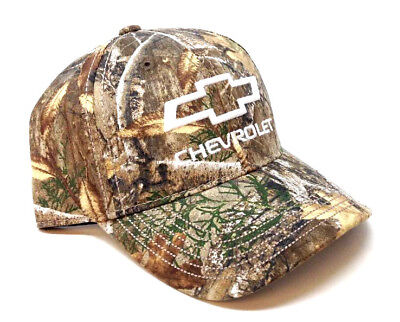 7aa3aa33b7470 CHEVROLET CHEVY REALTREE Edge Camo Camouflage Adjustable Hat Cap Outdoor  Hunting