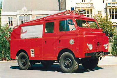 Picture Postcard--FIRE ENGINE, 1963 DENNIS 'M' SERIES LAND ROVER L4P