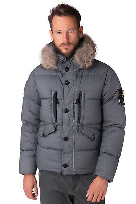 STONE ISLAND Down Puffer Jacket Size M Detachable Coyote Fur Trim Hooded RRP€975