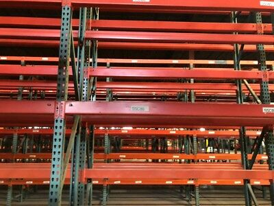 Used Teardrop Pallet Racking beams 94""