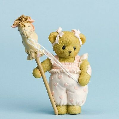 Cherished Teddies Kaylee Bear w/ Stick Pony Hobby Horse