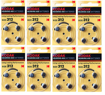 Kodak 32 Pack Hearing Aid Battery Size 312 (PR41, K312ZA) 1.45V EXP 03/2022