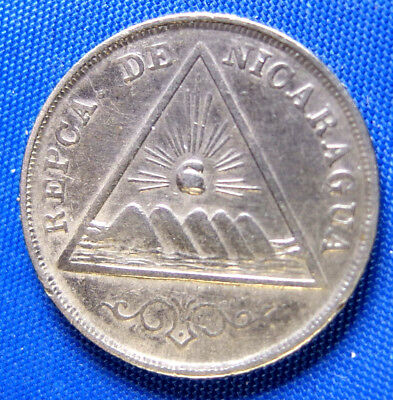 Nicaragua 1899 5 Centavos Copper/Nickel Coin--1 Year Type
