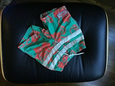 SUPER CUTE! Baby Gap Toddler Size 4 Swim Trunks Green and Coral