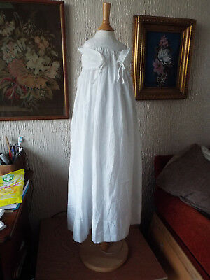 Vintage Baby Christening Gown/fine Cotton/embroidery