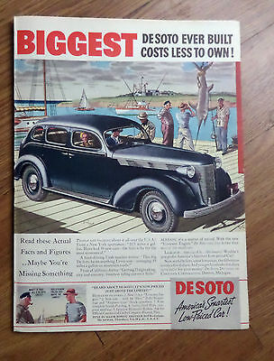 1937 DeSoto Sedan Ad at the Marina Deep Sea Fishing