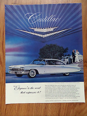 1960 Cadillac V & Crest Ad In Diamonds & Platinum by Cartier