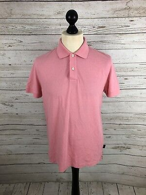 HUGO BOSS Polo Shirt - Size Small - Slim Fit - Pink - Great Condition - Men's