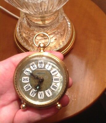 Vintage BLESSING Wind Up Brass Alarm CLOCK Made in WEST GERMANY