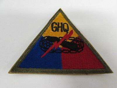 WWII US Army GHQ Armored Division patch.