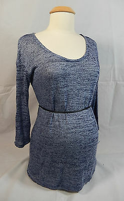 FINAL SALE - NEW Oh Baby by Motherhood Soft Blue Marled Maternity Sweater L XL