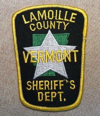 VT Lamoille County Vermont Sheriff Patch
