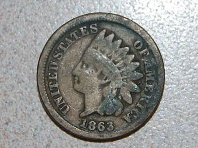 1863 Indian Head Cent   (629)