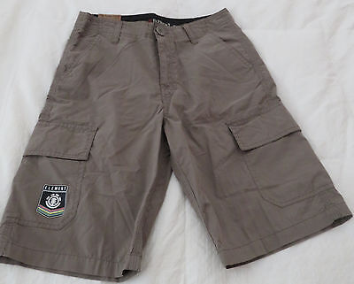 Element Shorts 7 Pockets Cargo Flat Front Youth Size 25 NWT