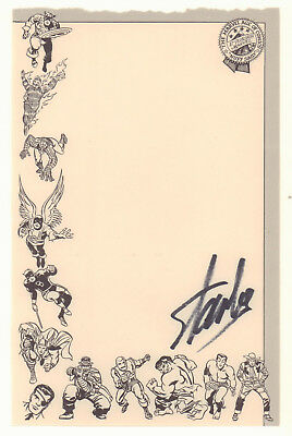 Marvel Comics Group Stationery Page - 1966 Signed by Stan Lee